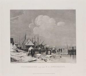 Wintergezicht aan het IJ te Amsterdam
