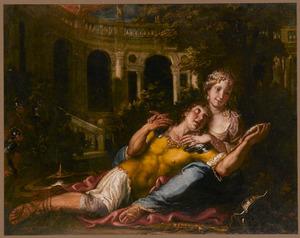 Rinaldo en Armida door Carlo en Ubaldo bespied  (La Gerusalemme liberata: 16:17-23)