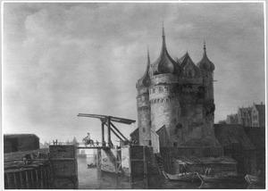 Gezicht op de Oude Oosterpoort te Hoorn