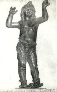 Tekening naar het bronzen beeld 'Atys-Amorino' van Donatello (1376/1396-1466)