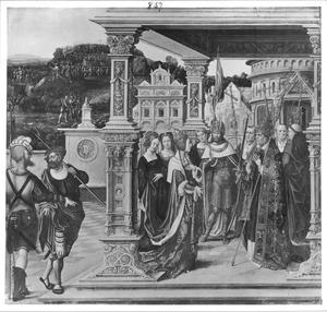 De H. Helena ontmoet de paus in Rome