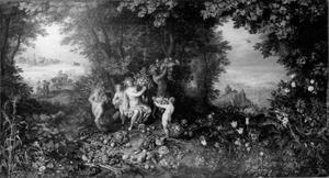 Allegorie van de aarde: Ceres in een landschap