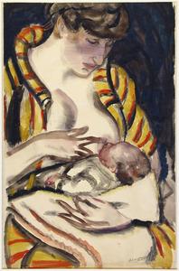 Moeder met kind aan de borst