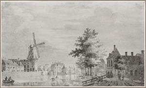 Gezicht op de Pompenburgsingel in Rotterdam
