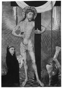Christus als Man van Smarten en een benedictijnse monnik