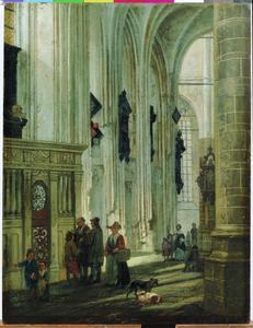 Het interieur van de Grote Kerk in Dordrecht