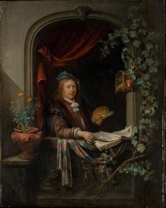 Zelfportret van Gerard Dou (1613-1675)