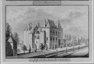 Linker- en voorzijde van de ridderhofstad Harmelen bij Vleuten