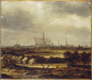 Duinlandschap met gezicht op Haarlem