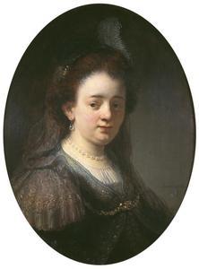 Portret van Saskia van Uylenburgh (1612-1642), de eerste vrouw van Rembrandt