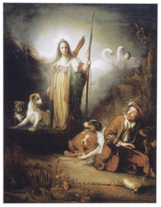 De godin Diana met een jager (?)