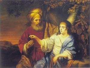 Judah en Tamar (Genesis 38: 14-18)