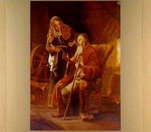 Tobits woede over het bokje van zijn vrouw Anna (Tobias 3)