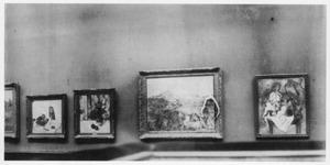 Overzichtsfoto van de Cézanne-presentatie op de eerste tentoonstelling van de Moderne Kunstkring, Stedelijk Museum Amsterdam, november 1911