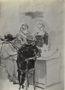 Dames in een café