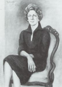 Portret van Ellen Marie Elze Anthing Vogel (1922- )