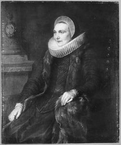 Portret van Maria Bosschaert (?-?), echtgenote van Adriaen Stevens