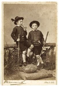 Dubbelportret van de gebroeders Frank en Willem Bijleveld
