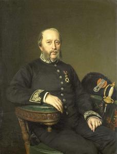 Portret van Gerard Johan Verloren van Themaat (1809-1890), lid van de gedeputeerde staten van Utrecht
