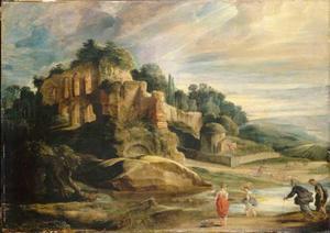 Landschap met ruïnes van de Palatijn