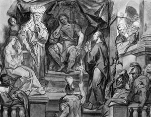 Jozef verklaart de dromen van de farao (Genesis 41:25)