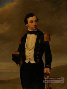 Portret van Jonkheer Nicolaas Anthony Holmberg de Beckfelt, Luitenant ter zee 2e klasse