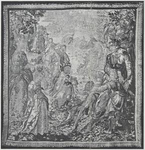 Orlando (of Ruggiero) bevrijdt Angelica van een zeemonster
