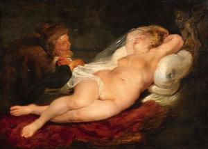 Angelica wordt bespied door de heremiet (Ariosto, Orlando furioso VIII, 29-50)