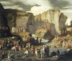 Mozes slaat water uit de rots