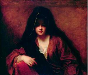 Vrouw met een sluier