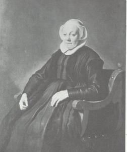 Portret van een 69-jarige vrouw, mogelijk Anna Roefs