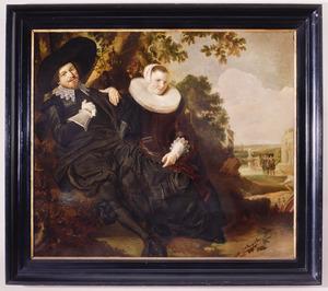 Huwelijksportret van Isaac Abrahamsz Massa (1586-1643) en Beatrix van der Laan (1592-1639)