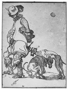 Man met twee honden