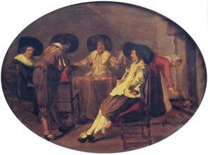Rokende mannen in een interieur