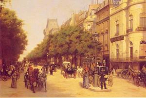 Boulevard des Italiens in Parjis