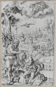 De doop van Christus in de Jordaan