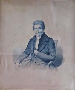 Portret van een man, mogelijk Leendert Krol (1792-1869)