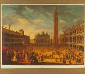 Carnaval op het San Marcoplein te Venetië
