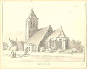 Lienden, gezicht op de kerk