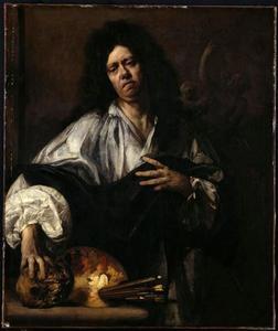 Portret van een man, mogelijk een zelfportret van Jean Jouvenet (1644-1717)