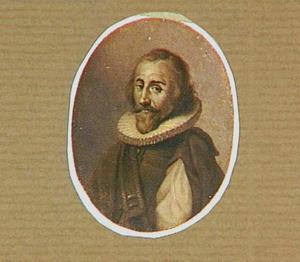 Portretminiatuur van de Zwitserse kunstenaar Conrad Meyer (1618-1689)