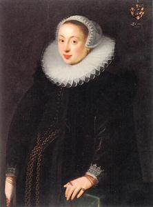 Portret van Anna Reuter(1579-1637), echtgenote van Everhard Jabach  III