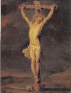 Christus aan het kruis op Golgota