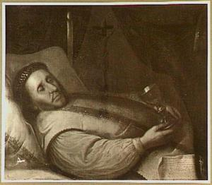Doodsbedportret van Christianus Vermeulen (1611-1668), pastoor te Zoeterwoude
