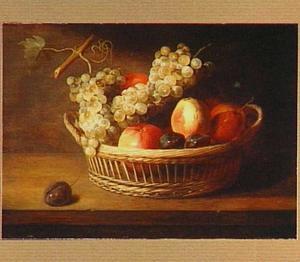 Stilleven van een mand met vruchten (vóór 1997 met toevoeging van een kreeft)
