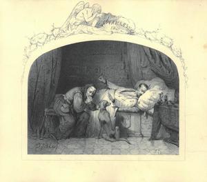 Karel IX op zijn sterfbed