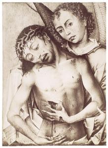 Christus als Man van Smarten met een engel