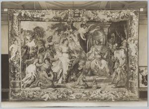 Zenobia als gevangene naar Aurelianus geleid