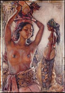Compositie van twee Balinese schonen