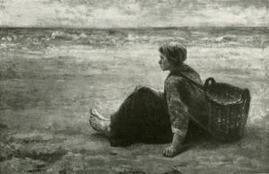 Visserskind aan het strand